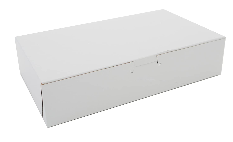 Southern Champion Tray 0967 Premium Clay Coated Kraft Paperboard White Non-Window Lock Corner Bakery Box, 10