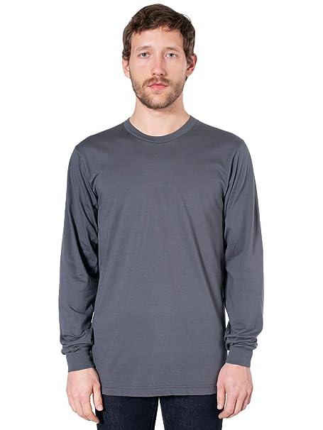 2af30b6b13 American Apparel Fine Jersey Long Sleeve T-Shirt-Asphalt at Amazon ...