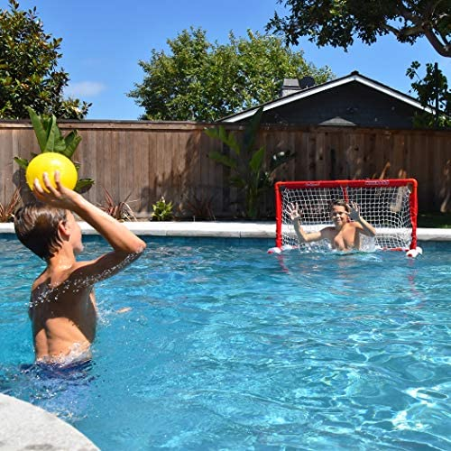 Gosports Floating Water Polo Game Set Must Have Summer Pool Game Includes Goal And 3 Balls Red Sports Outdoors Amazon Com
