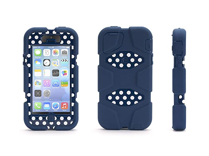 big sale 5973f 7a341 Griffin Survivor for iPhone 5/5s, blue polka dots - Ridiculously  over-engineered? Or the perfect case no matter where you're headed?