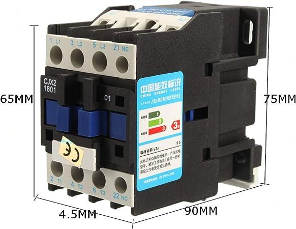 Contactor 1 NC Contact 12A 9A Non-Reversing 110V AC Coil DIN Three Pole