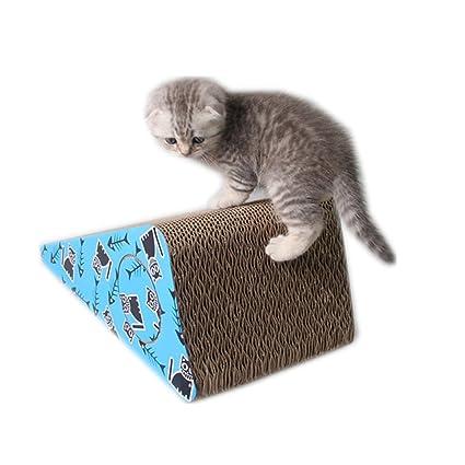 Wenzhihua Juguete de Gato Papel Corrugado Placa de arañazo de Gato Placa de Garra de Papel