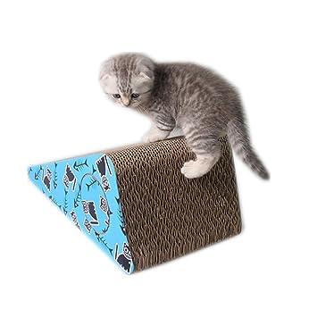 FANG1106 la última fusión de Mascotas Papel Corrugado Placa de arañazo de Gato Placa de Garra de Papel Duro para Enviar a Catnip.