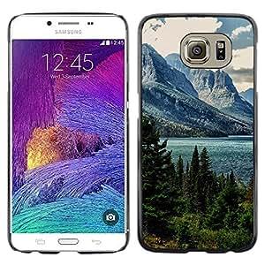 Caucho caso de Shell duro de la cubierta de accesorios de protección BY RAYDREAMMM - Samsung Galaxy S6 - Alaska Mountain Lake