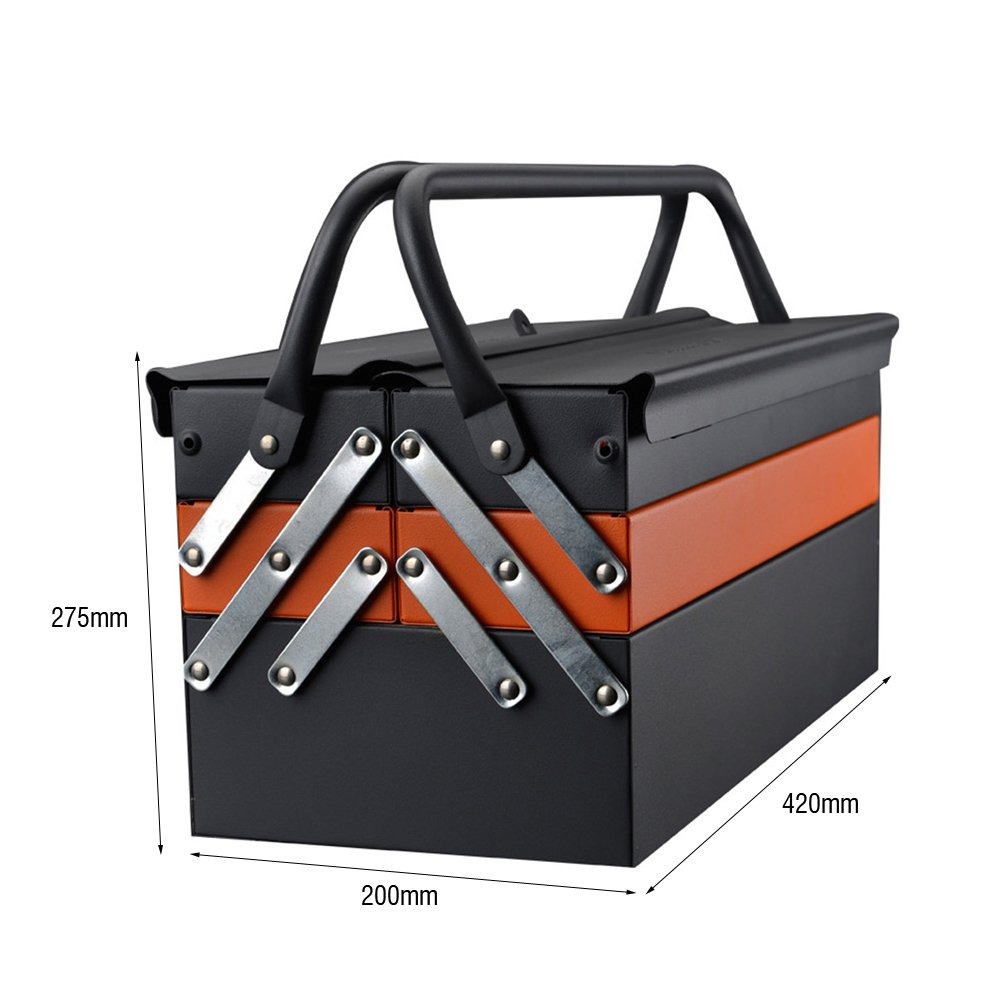 Lightdot Hardware Portable Cantilever Toolbox, 5 Drawers Metal Tools Box by HAR-DEN (Image #7)