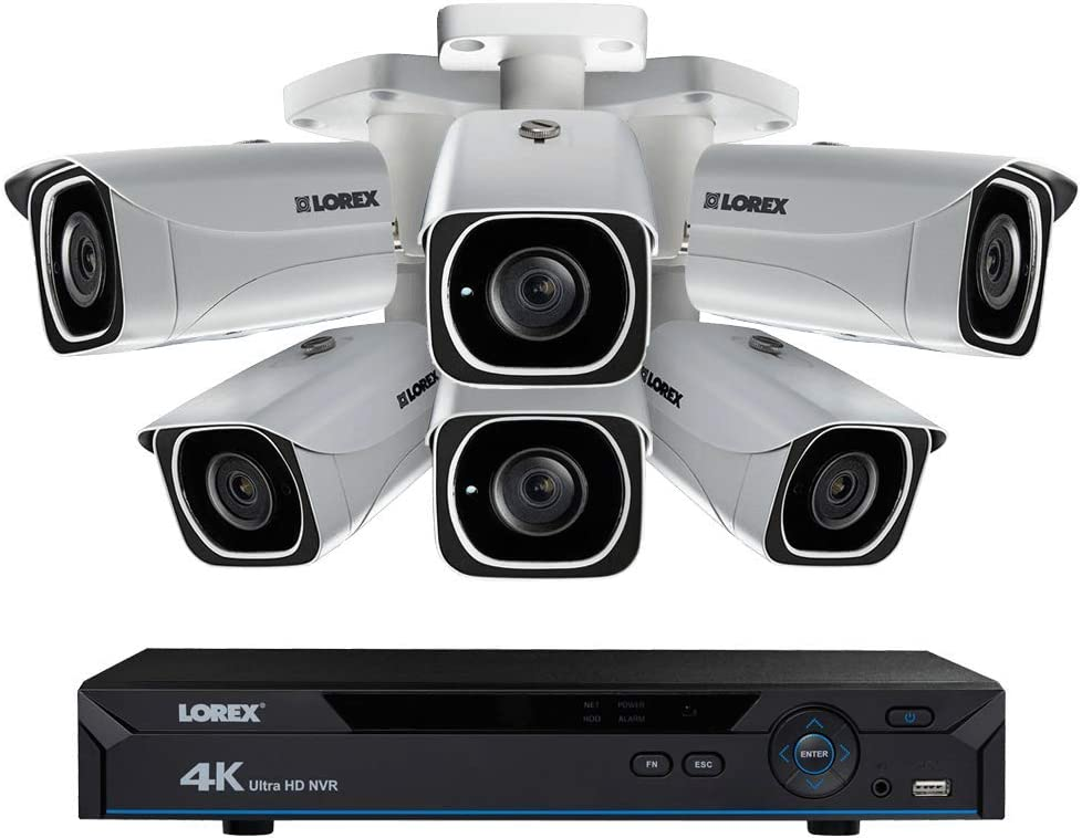 Lorex 4KHDIP84W 2TB 4K 8 Channel IP Surveillance Camera System w 6 LNB8005 8MP Bullet Camera