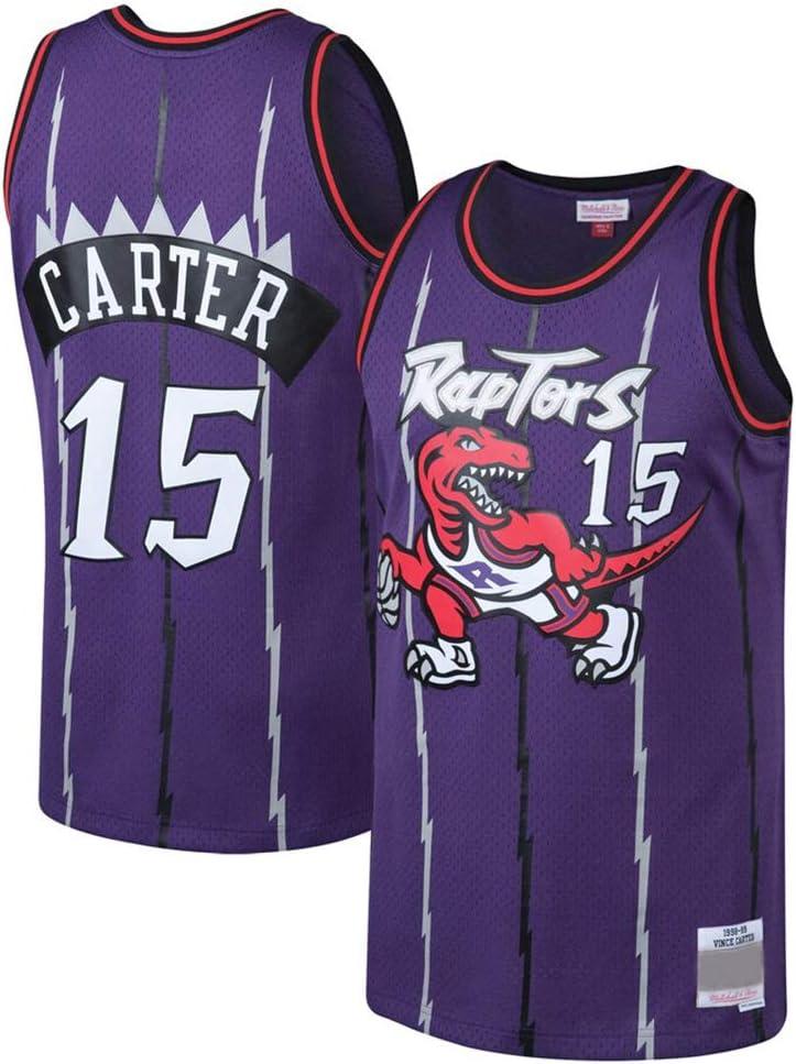 AMJUNM Chaleco de Baloncesto Toronto Raptors 15# Carter Bordado Traje de Baloncesto para Hombre Mujer: Amazon.es: Deportes y aire libre