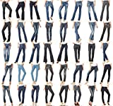 Variety Assorted Wholesale Lot Clothing 125 Womens Mixed Jeans Denim Pants Shorts Skirts Apparel