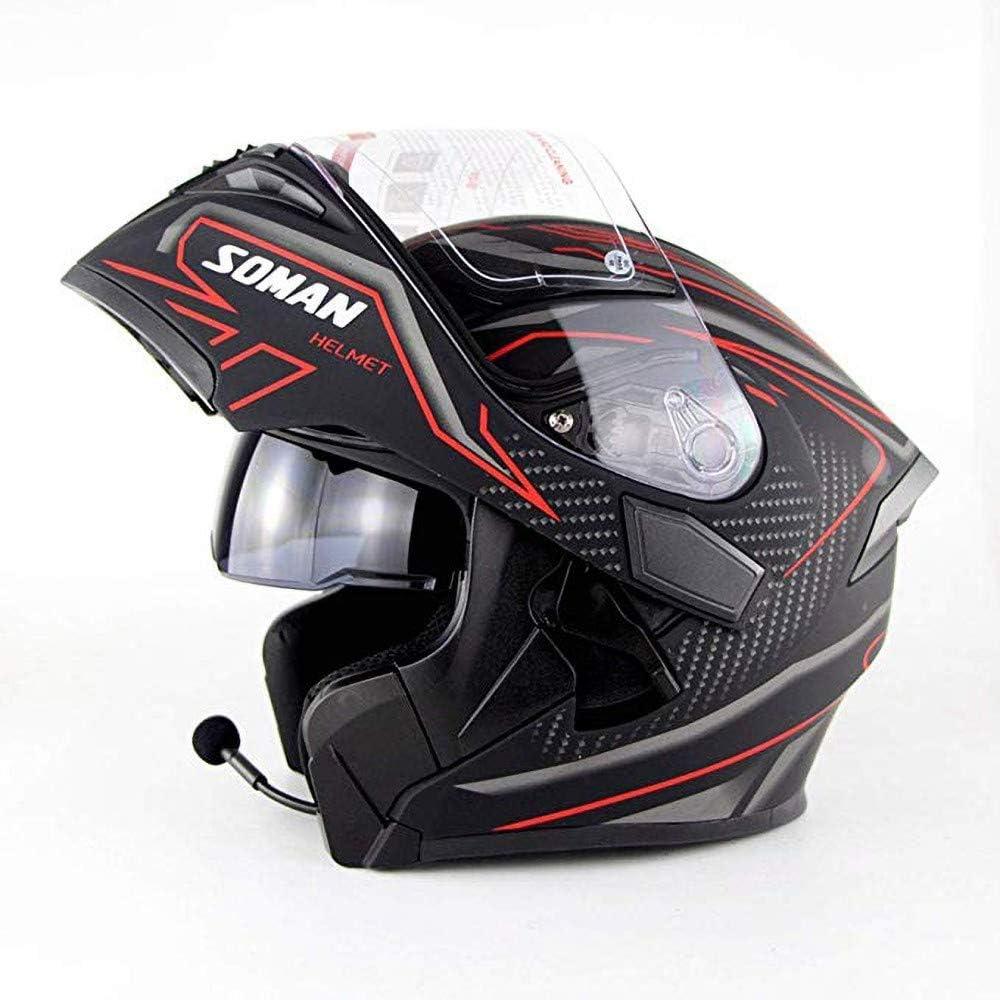 Bluetooth Helm Flip Up Full Face Motorrad Motorradhelm Mit Bluetooth Headset Antifogging Doppellinse Klapphelme DOT//ECE Zugelassen Mann Frauen f/ür ATV//MX//DH//MTB//UTV