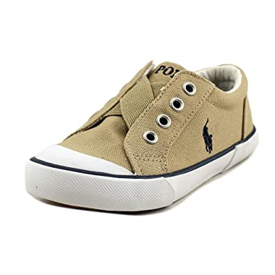 6525ad9a5ac Polo Ralph Lauren Greggner II Toddler Round Toe Canvas Tan Sneakers Beige  Size: 10 M