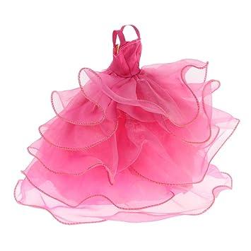 Gazechimp 26cm Vestido de Novia Elegante de Boda para Barbie Muñeca Fashion - 4