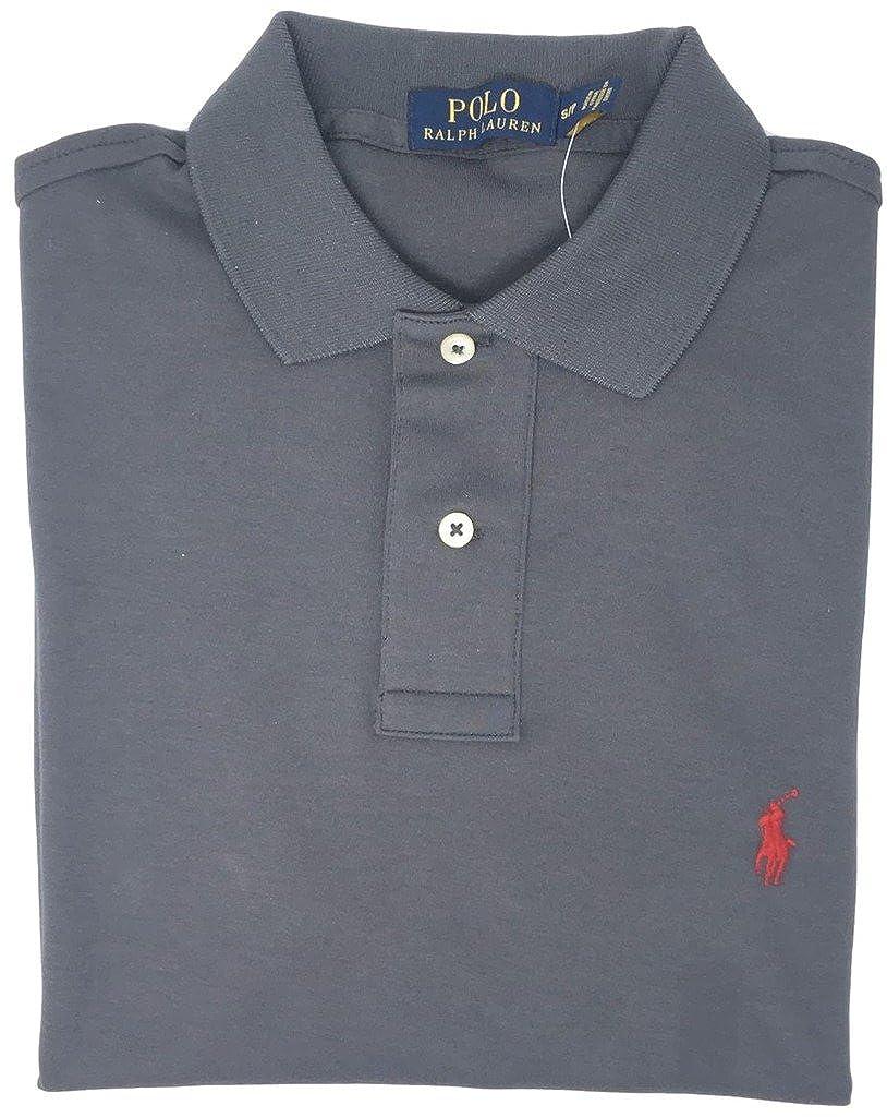 XL, Charcol Polo Ralph Lauren Men Medium Fit Interlock Polo Shirt
