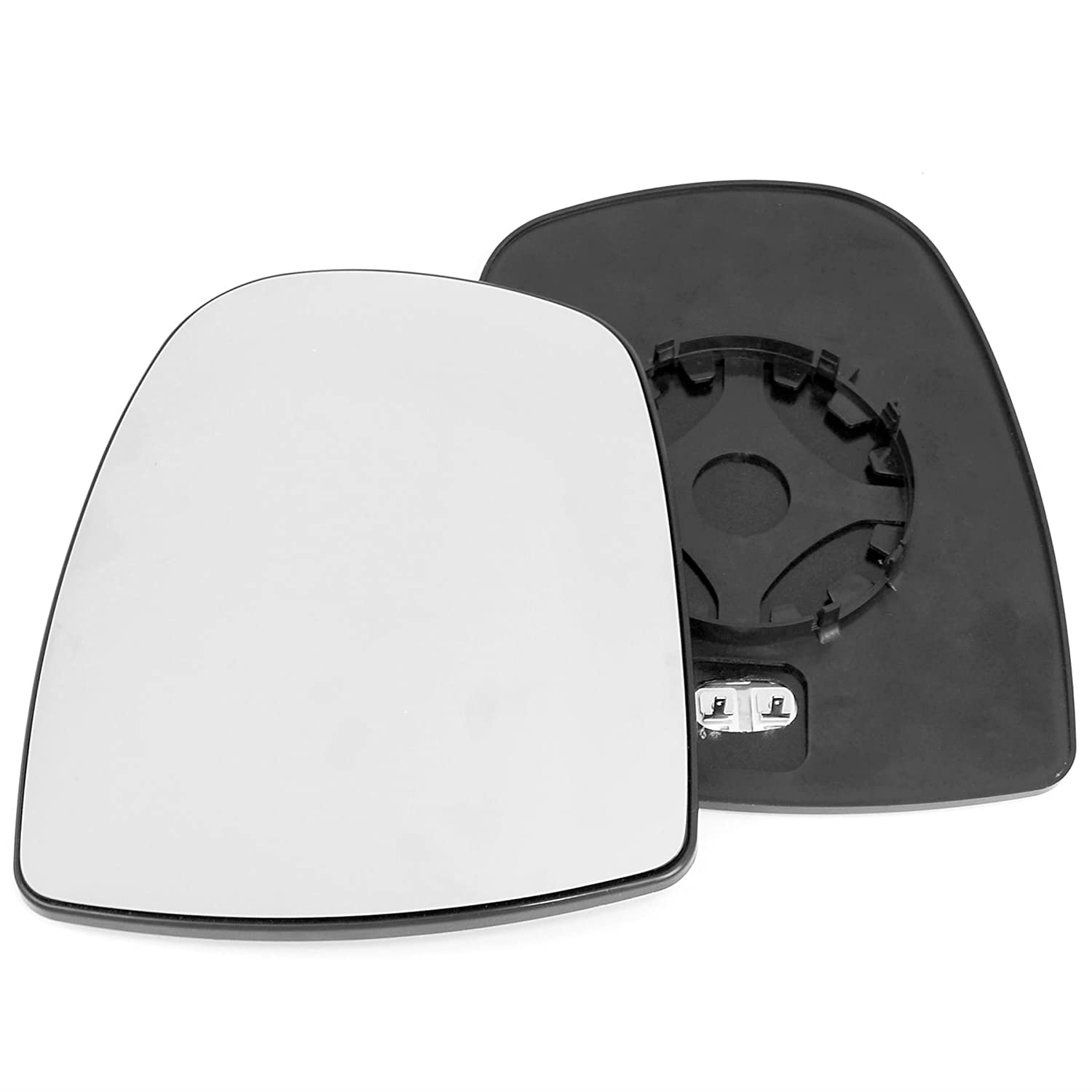 Passenger left hand side Heated wing door Silver mirror glass with backing plate #C-SHY//L-NNPSR02 Clip On