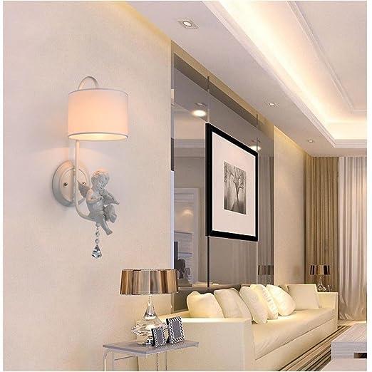 Creative Personality Resin Angel Model Wall Lamp White Iron E14 Children Room