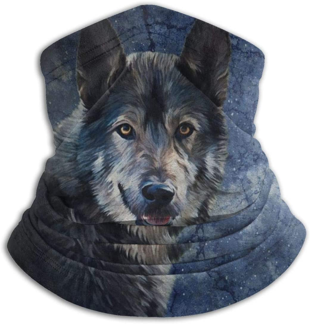 MosesYong Vintage Rasse Hund Wolf Hals Gamasche W/ärmer Unisex Warm Circle Loop Schals F/ür Winter Outdoor Sport Sonne UV Wind Staubschutz