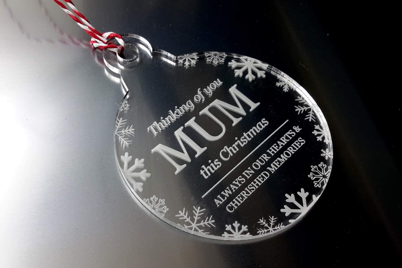 Remembrance Christmas Bauble Tree Origin Thinking of You Mum Decoration