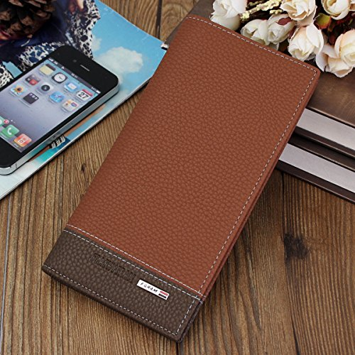 New fashion PU Leather Men Long Wallet Money Purse Card Holder Coin Bag Clutch Bifold - Exchange Armani Address
