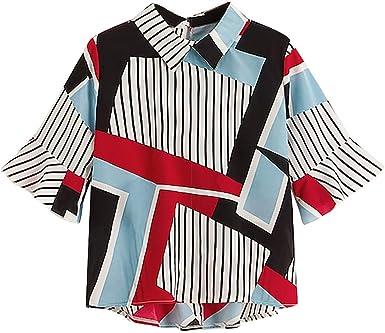 Camisetas Mujer Tallas Grandes De Fiesta Originales Blusa Mujer Blusas para Mujer Elegantes Verano Fashion Womens Camiseta Casual Más Volantes De ...