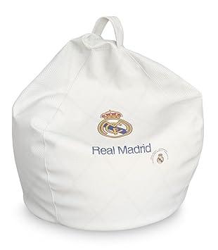 SUENOSZZZ - Real Madrid - Producto Oficial/Pouf Pera Blanco - 75X80D: Amazon.es: Hogar