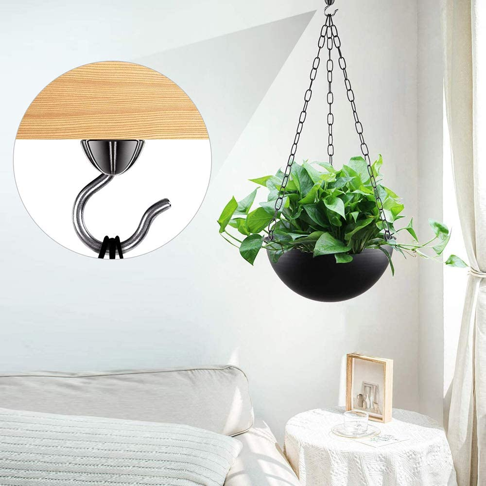 Plant Dolibest Pack of 20 Screw in Hooks Cup Christmas Lights Hanger with Screw Ceiling Hook for Outdoor Indoor Porch Bathroom Kitchen Wall Hang Hooks for Coffee Cup Straight