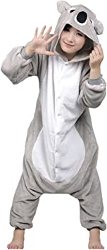 Autek disfraz Koala unisex pijama de una pieza para dormir de ...