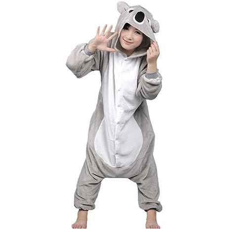 Autek disfraz Koala unisex pijama de una pieza para dormir de animales. Disfraces originales