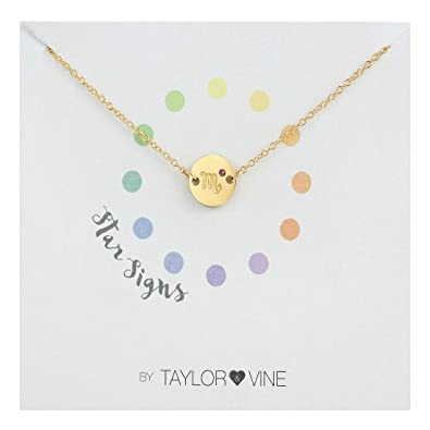 Amazon com: Star Signs Scorpio Pendant Bracelet with CZ Gem