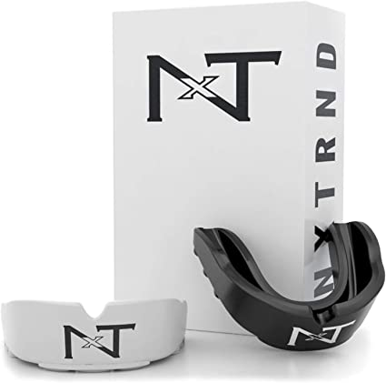 Nxtrnd Rush Mouth Guard Sports - 2 Pack of Professional Mouthguards for Boxing, Football, MMA, and More (Black & White)