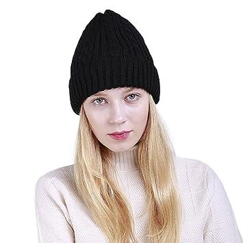 Amazon.com  Blackzone Knitted Warm Beanie Hat Outdoor Fashion Women Winter  Ski Skull Cap 771c0c7f56d6