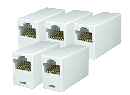 Amazon imbaprice rj45 coupler pack of 5 cat5e ethernet imbaprice rj45 coupler pack of 5 cat5e ethernet cable extender female to female asfbconference2016 Image collections
