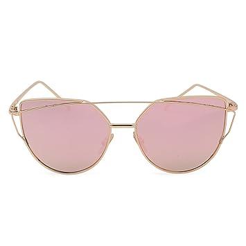 Gafas de sol para mujer, gato ojos Rose Oro Gafas de sol ...
