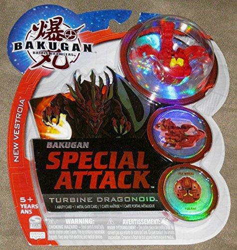 BAKUGAN SEASON 2 VESTROIA NEW LOOSE SPECIAL ATTACK NOVA 12 PYRUS RED TURBINE DRAGONOID 710G by SpinMaster