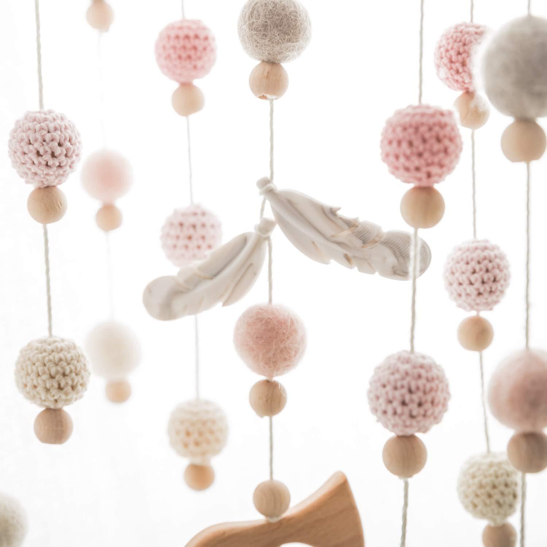 Mamimami Home 20 unid Mordedor de Silicona de Beb/é de Color Mezclado Pluma DIY Bolas de Dentici/ón Collar para Mam/á Montessor Juguete Beb/é Ducha Regalo