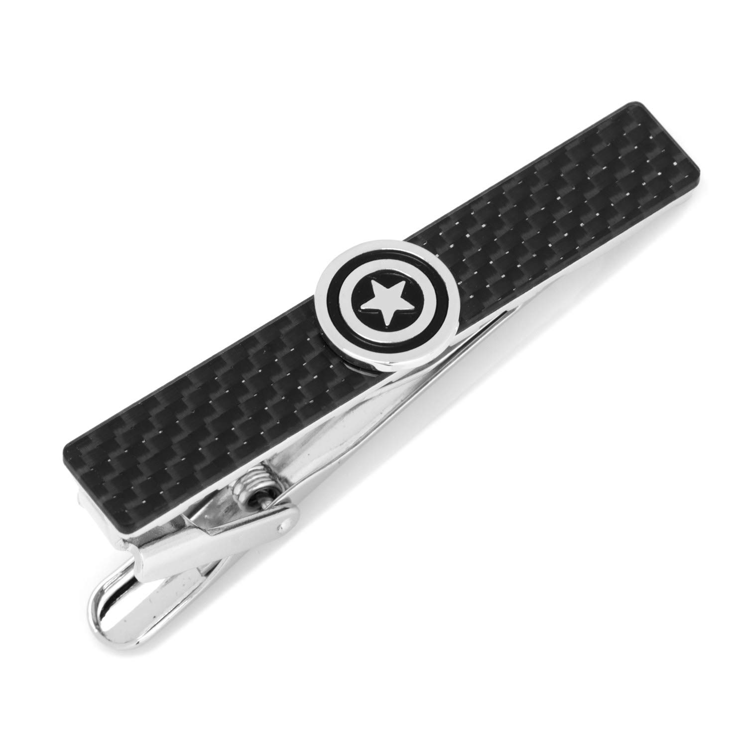 Marvel Captain America Carbon Fiber Tie Clip, Officially Licensed