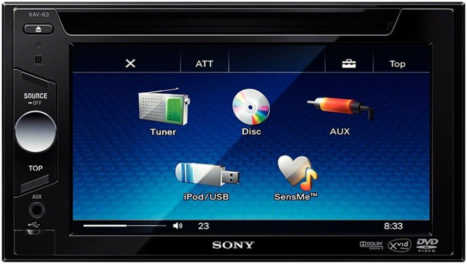Sony Xav63 2 Din A V Receiver 6 1 Zoll Elektronik