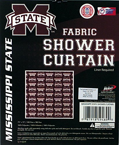 NCAA Mississippi State Bulldogs Shower Curtain - Mississippi Shower Curtain