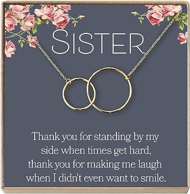 Amazon.com: Collar de hermanas de querida Ava: regalo para ...