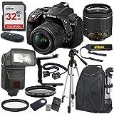 Nikon D5300 24.2 MP DSLR Camera (Black) with AF-P DX NIKKOR 18-55mm f/3.5-5.6G VR Lens Bundle includes 32GB Memory + TTL Flash + Deluxe Backpack + Professional Accessories
