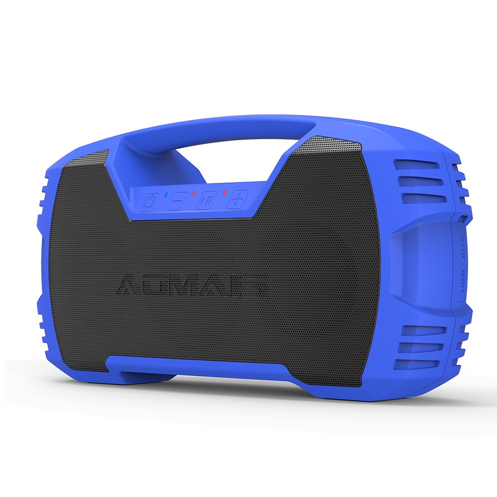 AOMAIS GO Bluetooth Speakers, Portable Indoor/Outdoor 30W Full Volume Wireless Stereo Pairing Speaker IPX7 Waterproof, Booming Bass with Power Bank, Durable for Pool Party, Beach, Camping, Hiking (Black) JWH AS-F5-Black