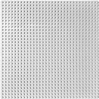 EduToys Plastic Base Plate Board for Building Blocks Bricks (10 x 10 Inches, Grey)
