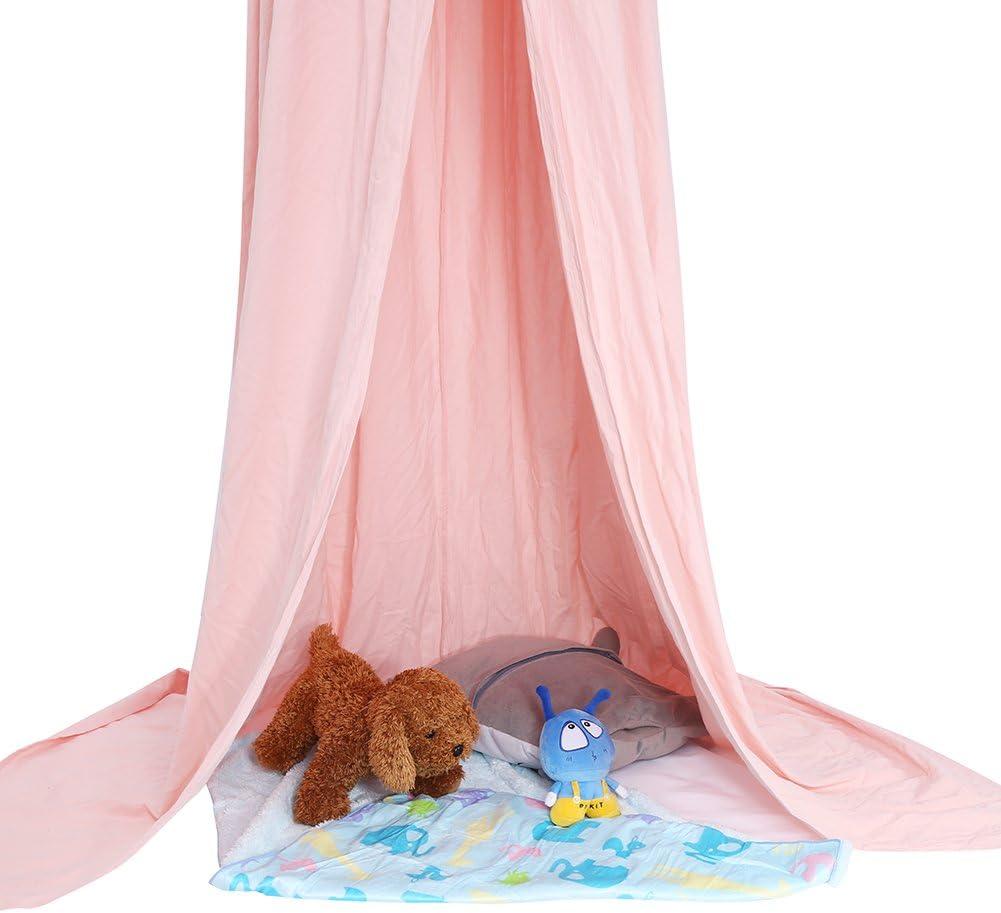 Ropa De Cama De Beb/é C/úpula Redonda Cama Colgante Canopy Kids Play Tent Cortina De Mosquitera Para Beb/é Ni/ños Lectura Reproducci/ón Decoraci/ón De La Habitaci/ón Color : Dark Blue
