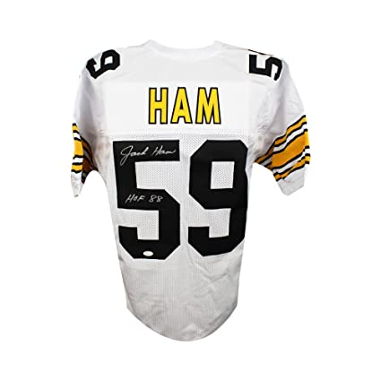 3665346d3 Image Unavailable. Image not available for. Color  Jack Ham HOF Autographed Pittsburgh  Steelers Custom White Football Jersey JSA