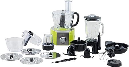 H.Koenig - Juego de MX18 y ACMX18 - Robots de cocina, multiuso, color verde y negro: Amazon.es: Hogar