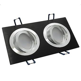 Lampe Orientable Gu10 Spot Double Rectangulaire Led Encastrable 16 W cFJK1l