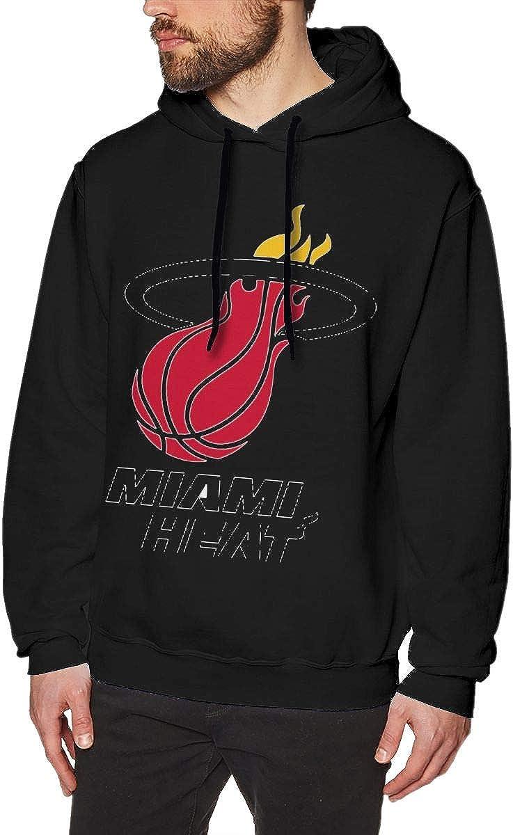 Miami Red Heat Mens Classic Comfortable Sweatshirt Black