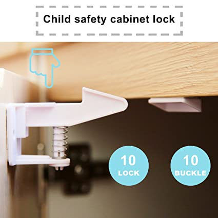 Cerraduras de seguridad para Bebés y Niños, Cierres de Seguridad para Armarios y Cajones,
