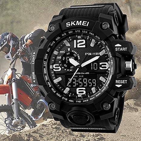 Amazon.com: Relojes de Hombre de Moda 2018 Sport Water Resistant Watch Reloj Digital Men RE0088: Watches