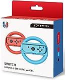 GH 小型サイズの子ども向け Switch マリオカート 8 デラックス ハンドル, Nintendo スイッチ ジョイコン (Joy-Con) コントローラー 専用 2個 セット(赤1+青1)