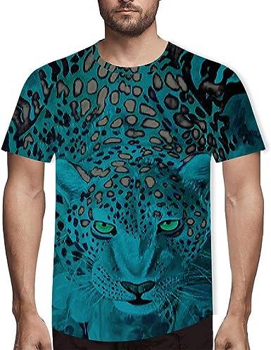 Luckycat Mangas Cortas Color sólido Hombres, Parte Superior Suave y Transpirable Camisa Deportiva Camisa Hawaiana para Hombre 3D Estampada Estampado De Leopardo: Amazon.es: Ropa y accesorios