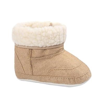 aed80205b779c ❤️Amlaiworld Bébé Bottes de Neige à Semelle Souple Chaussons Chaussures de  Berceau Douces Bottes pour